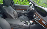 Mercedes-AMG S 63 facelift interior spy picture