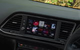 Seat Leon SC Cupra 300 infotainment display