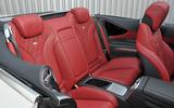 Mercedes-Benz S500 Cabriolet rear seats