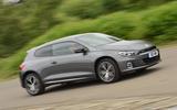 Volkswagen Scirocco GTS cornering