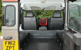JE Motorworks Defender rear boot space