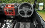 JE Motorworks Defender dashboard