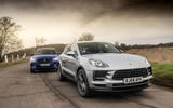Porsche Macan vs Jaguar E-Pace 2019 - hero tracking