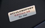 Volkswagen Golf GTI Clubsport Edition 40 plaque