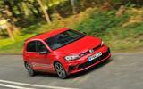 Volkswagen Golf GTI Clubsport Edition 40 cornering