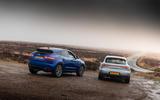 Porsche Macan vs Jaguar E-Pace 2019 - open road