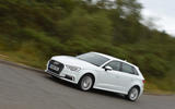 Audi A3 Sportback e-tron cornering