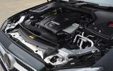 Mercedes E300 Coupe engine bay