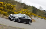 Mercedes E300 Coupe cornering