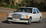 Mercedes 190E front shot cornering