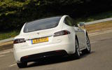 Tesla Model S 60D rear cornering