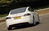 Tesla Model S 60D rear cornering
