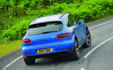 2017 Porsche Macan S road test review - cornering rear