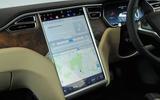 Tesla Model S 60D touchscreen infotainment