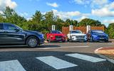 Jaguar I-Pace, Mercedes-Benz EQC, Audi E-tron and Tesla Model X charging