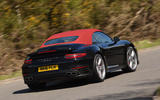 Porsche 911 Turbo Cabriolet rear cornering