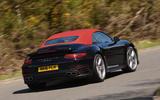 Porsche 911 Turbo Cabriolet rear cornering