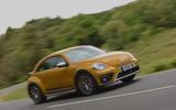 Volkswagen Beetle Dune cornering