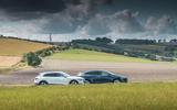 Tesla Model X and Audi E-tron side-by-side