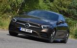 Mercedes-Benz CLS 350 d 2018 UK first drive hero front