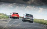 Jaguar I-Pace and Mercedes-Benz EQC cornering - rear