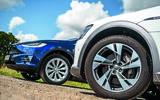 Audi E-tron and Tesla Model X front wheels