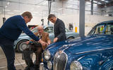 Norman Dewis at JLR Classic Works