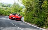 Driving the Chevrolet Corvette through rural England