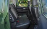 Ssangyong Korando Sports DMZ rear seats