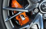Gold Lexus F brake caliper