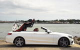Mercedes-Benz C 220 d Cabriolet roof opening