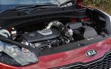 1.6-litre Kia Sportage petrol engine