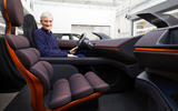 Dyson electric car - interior