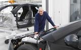 James Dyson with EV prototype