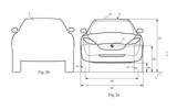 Dyson electric car patent images - front profile
