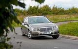 Mercedes-Benz E-Class estate cornering