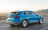 Audi E-Tron rear three-quarters