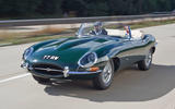 Jaguar E-Type road trip - front
