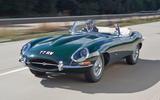 Jaguar E-Type road trip - front