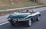Jaguar E-Type road trip - rear