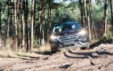 Ford Edge tackling rough terrain