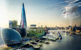 London is presented as a greener and cleaner environment