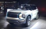 Mitsubishi Engelburg Tourer Geneva stand - front