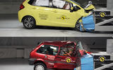 Euro NCAP 20th Anniversary – Thatcham Research crash tests the 1997 Rover 100 and a current Honda Jazz, dramatizing 20 years of advances in car safety