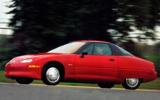 GM EV1 driving shot