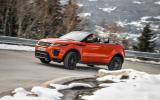 Land Rover Evoque Convertible cornering