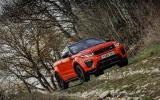 Land Rover Evoque Convertible off-roading
