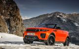 Land Rover Evoque Convertible on snow