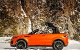 Land Rover Evoque Convertible roof folding