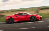 Ferrari 488 Pista 2018 UK first drive review - hero side